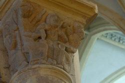 Chapiteau des monnayeurs à Souvigny