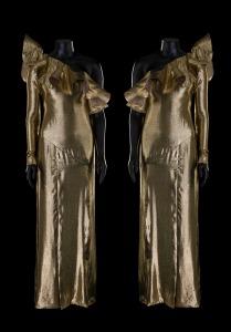 Le duo Brigitte, robes d'Alexis Mabille portées aux 30e Victoires de la Musique, 2015. © CNCS / Florent Giffard
