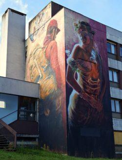 Street Art City à Lurcy-Lévis dans l'Allier en France