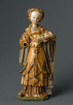 Sainte Barbe Malines, Belgique Vers 1515-1520 Bois, polychromie © RMN-Grand Palais (musée de Cluny - musée national du Moyen-Âge) / Jean-Gilles Berizzi Service presse/musée Anne-de-Beaujeu