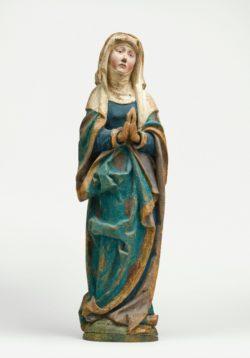 Vierge Haute-Souabe (?), Allemagne du sud Vers 1520 Bois (tilleul), polychromie © RMN-Grand Palais (musée de Cluny - musée national du Moyen-Âge) / Michel Urtado Service presse/musée Anne-de-Beaujeu