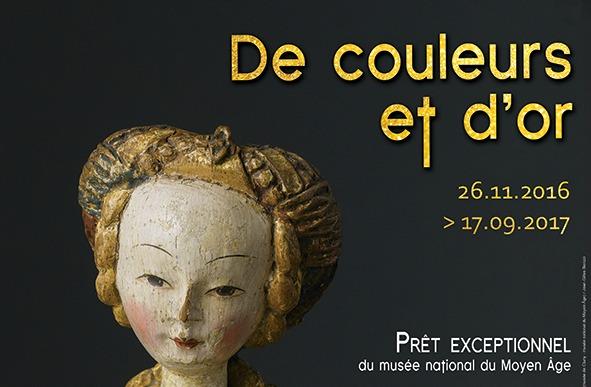 Affiche de l'exposition De couleurs et d'or au Musée Anne de Beaujeu
